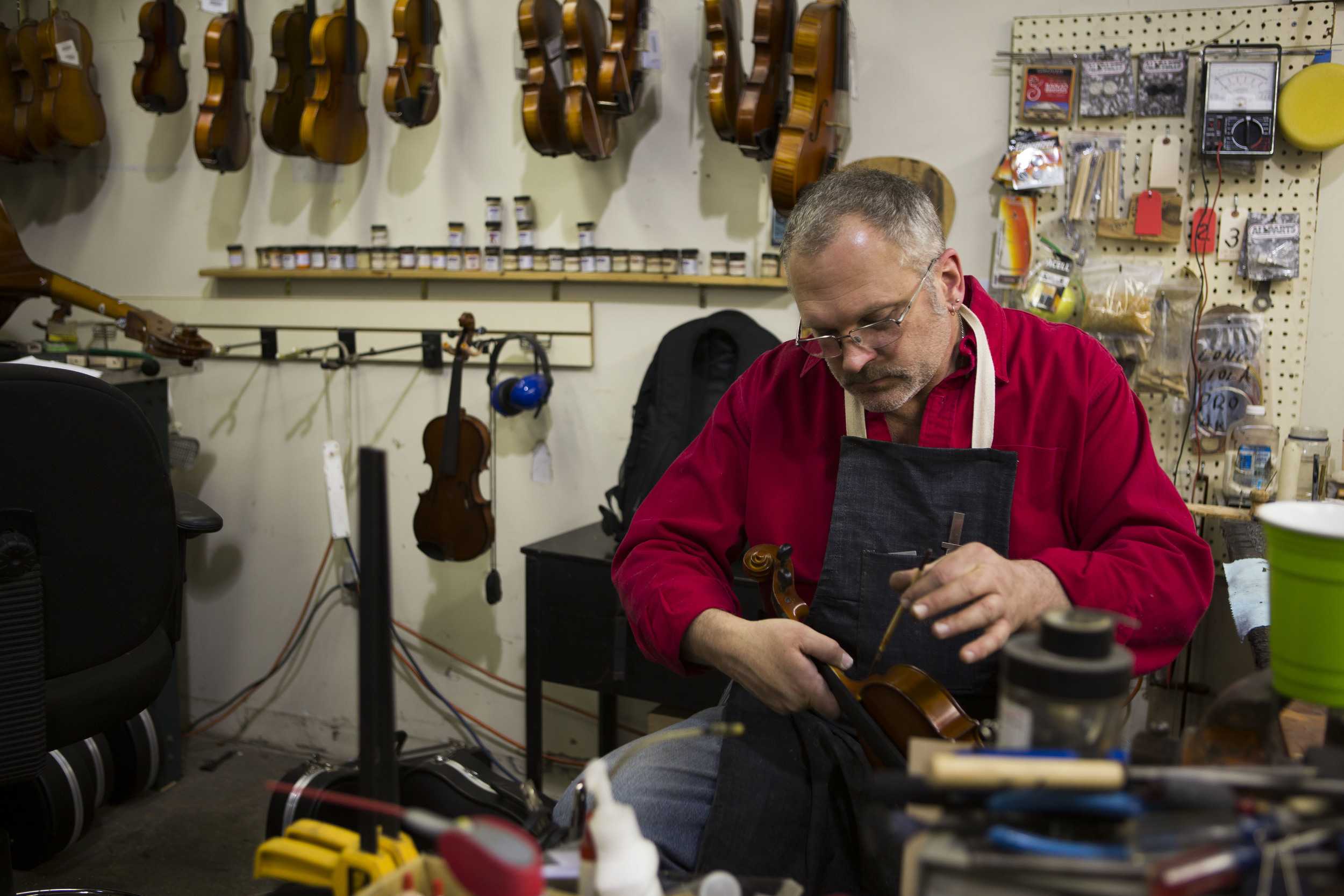 Orchestral and Fretted Strings Technician, Karim OConnor