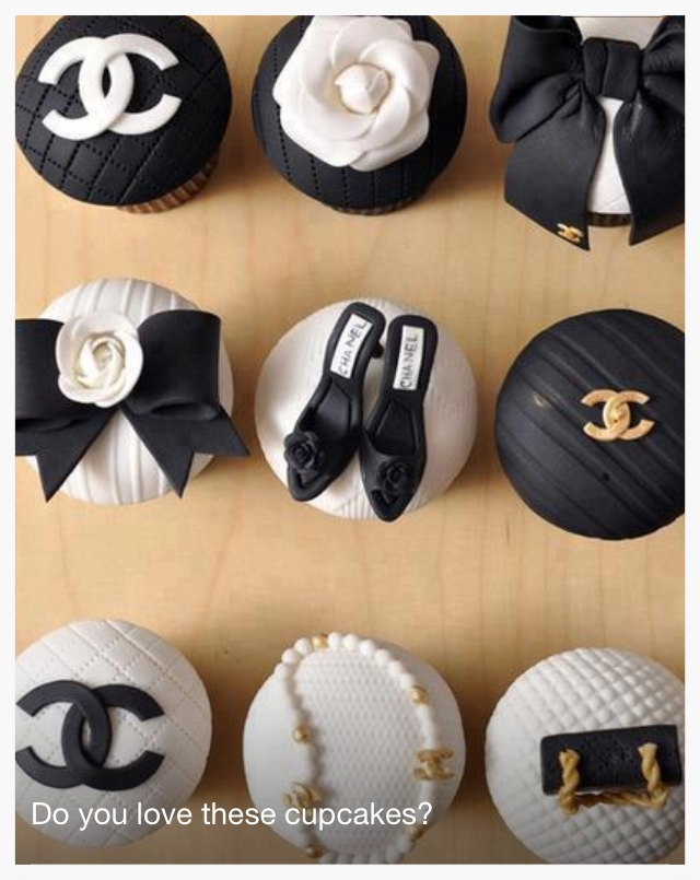 Yummy Chanel inspired cupcakes