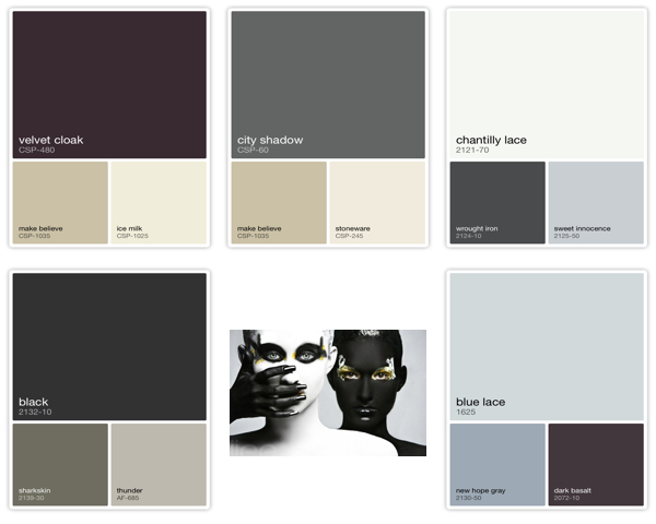 Color palettes by Benjamin Moore