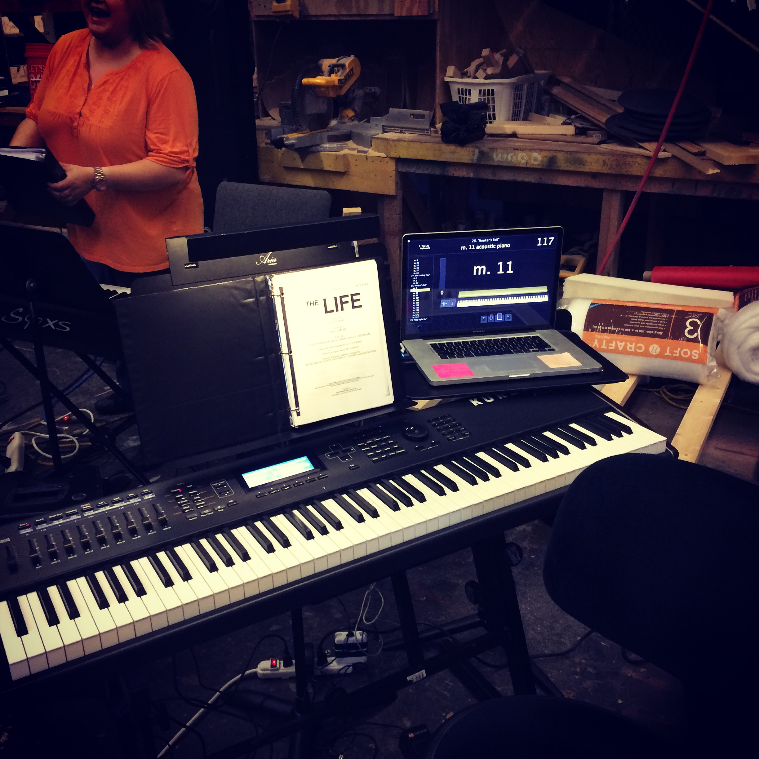 "Keyboard Setup - Sitzprobe for ""The Life"""