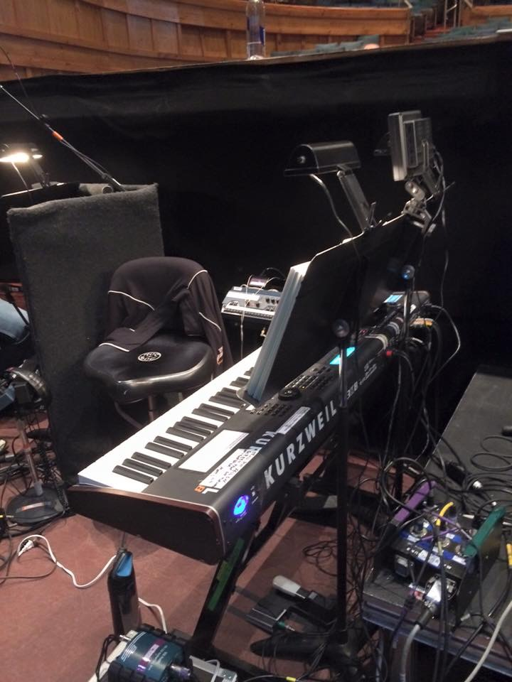 """The Keyboard 2 setup for """"The Producers"""""""