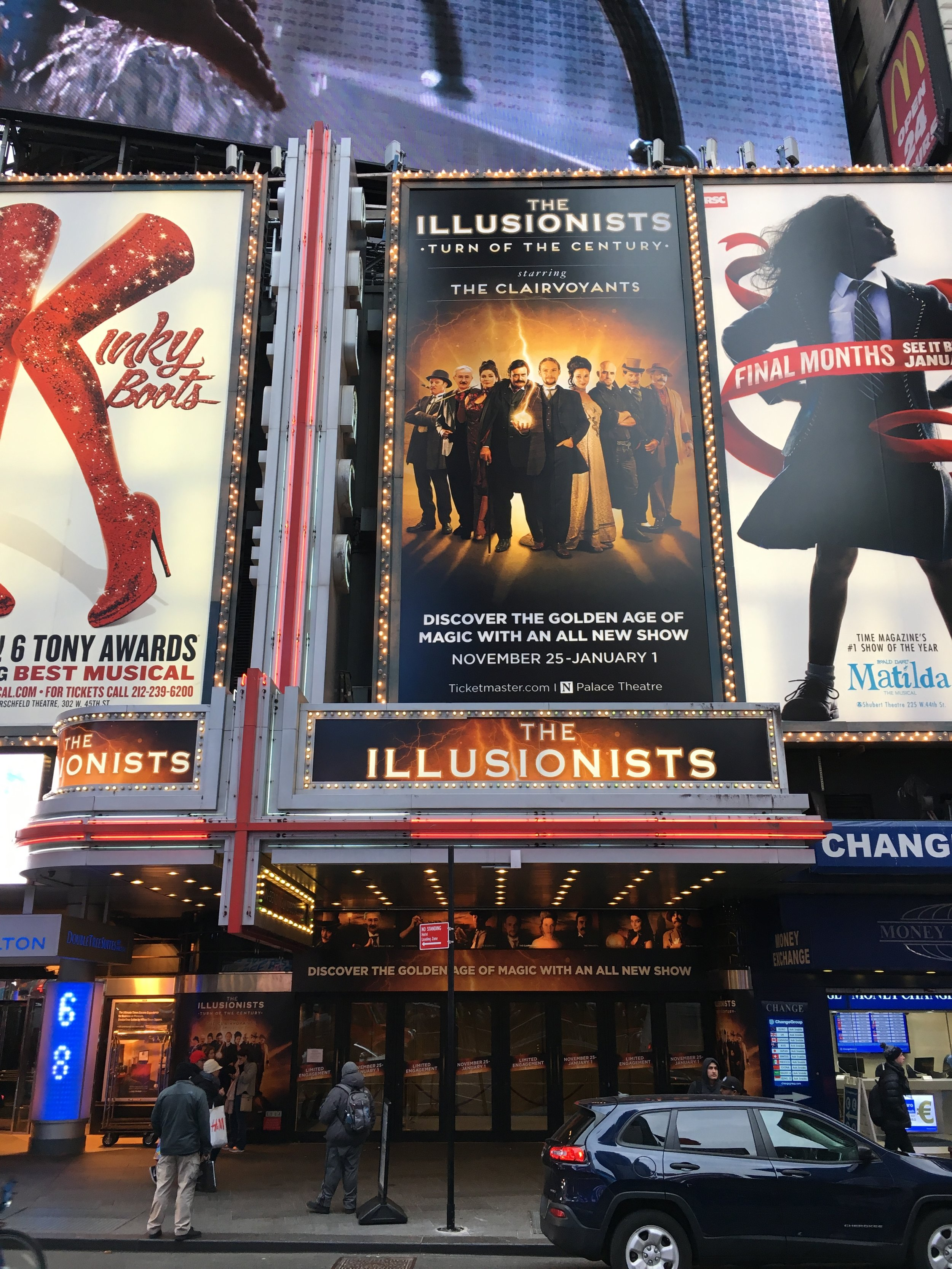 """The Illusionists"" Marquee"