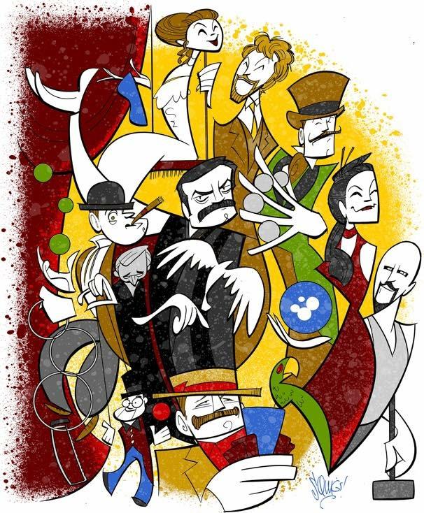 Illusionists Caricature