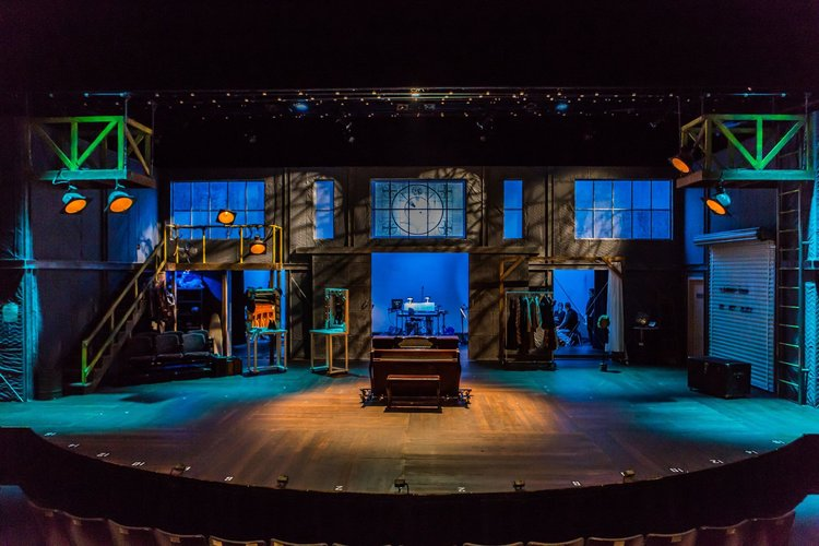 """The set for """"I Love A Piano"""" at Meadow Brook Theatre, April-May 2017."""