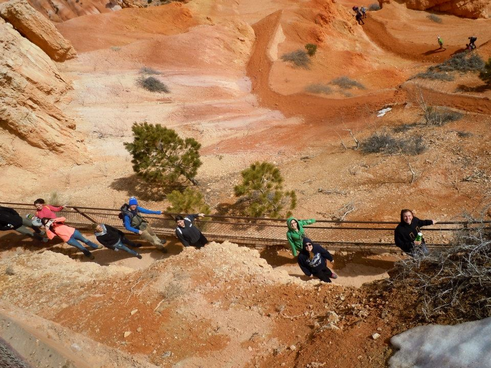 Hiking in Bryce Canyon over Presidents' Day Weekend