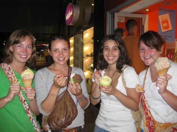 Getting gelati in the evenings was a common occurrence, and it would be still, if only I weren't allergic to the cold now. (This allergy was actually partly discovered after a very odd feeling in my throat after eating some gelati in Cairns.)