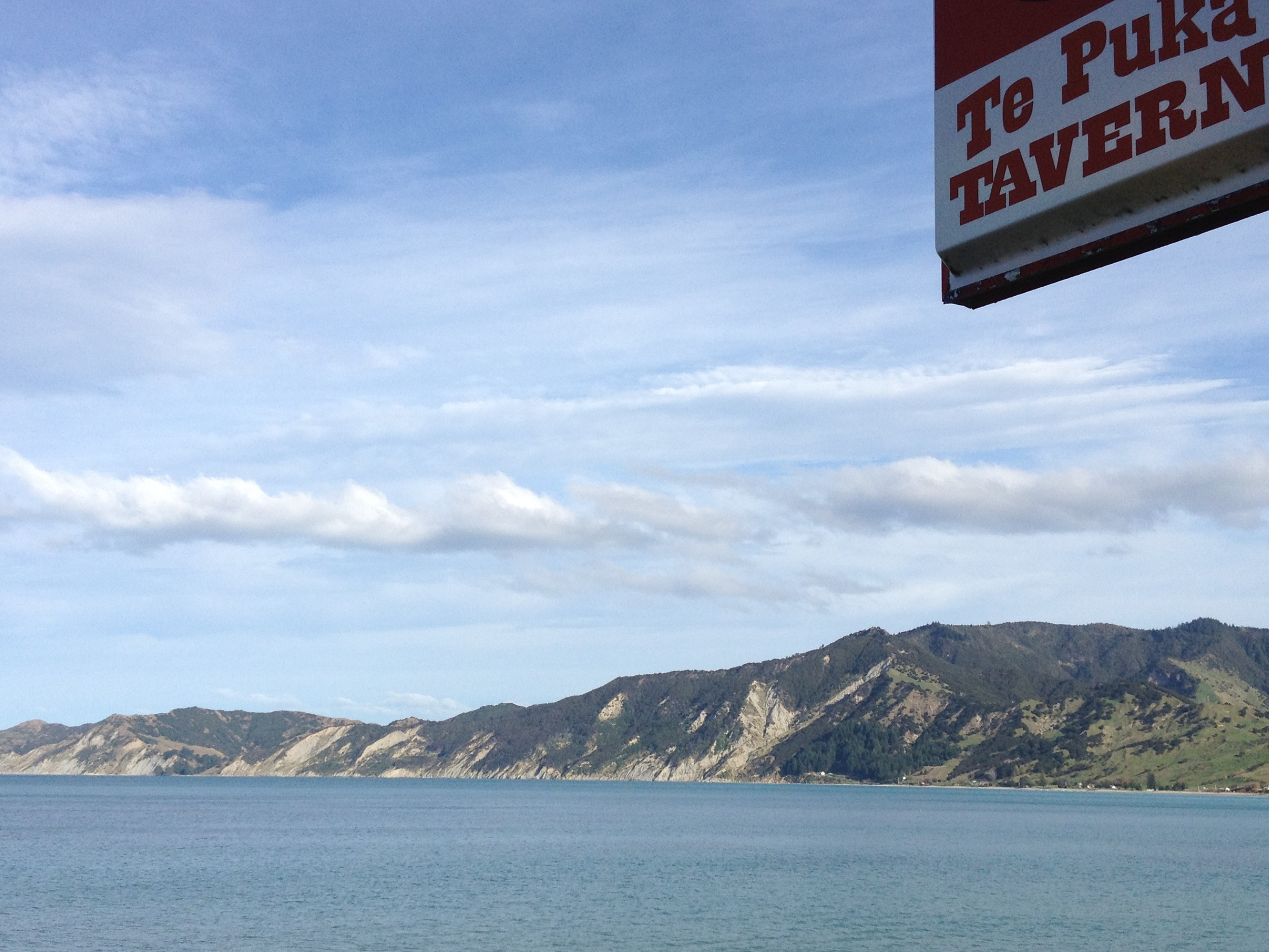 Lunchtime view at Tokomaru Bay