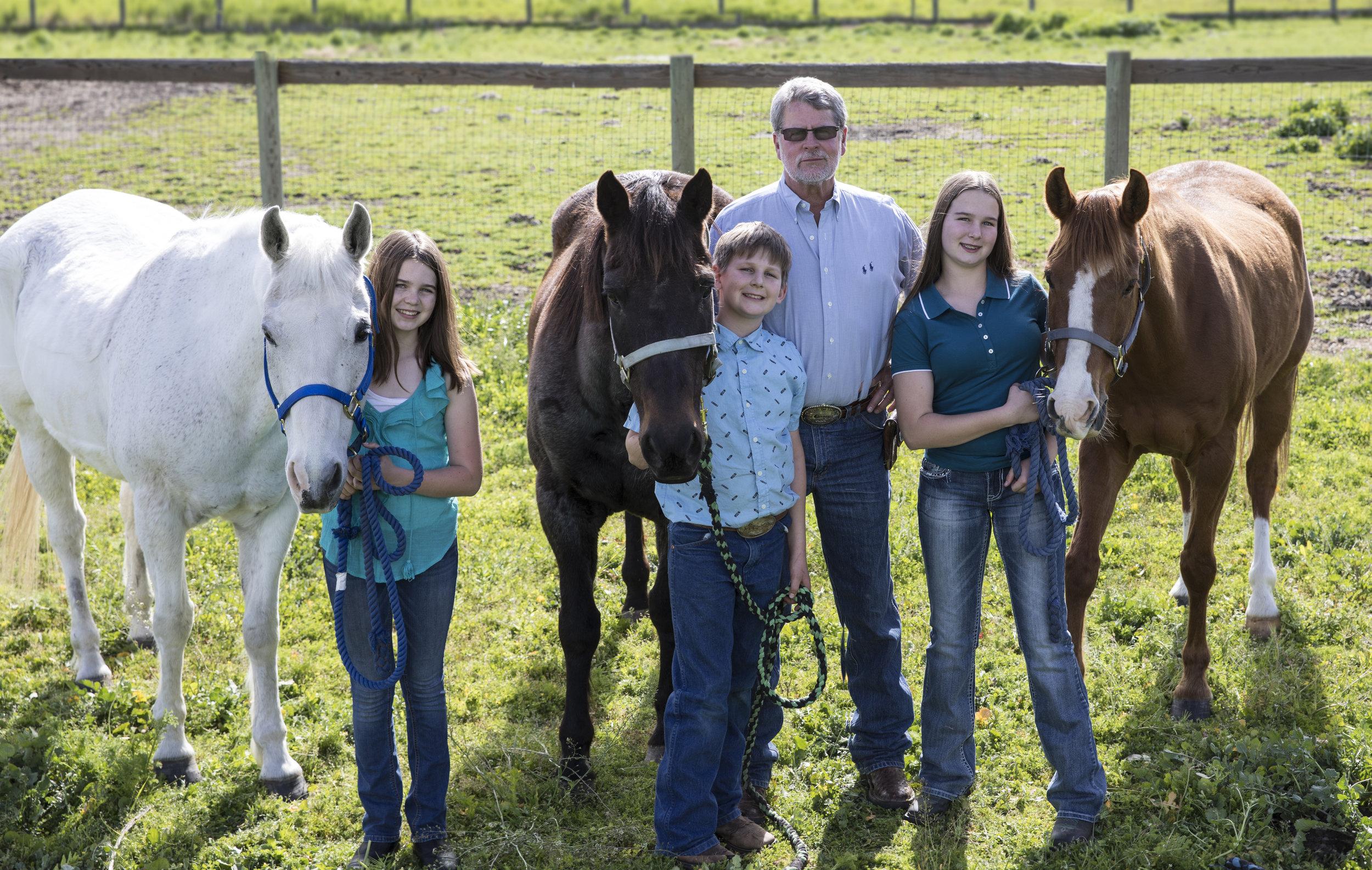 Dr. John Kaufman with his 3 children Juliet, Jake and Jacalyn
