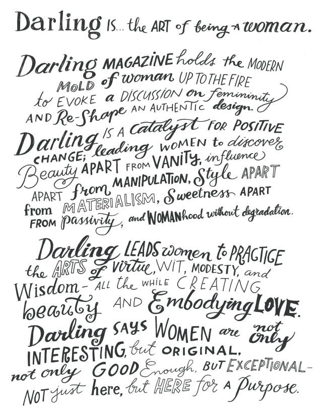Darling Magazine missionstatement