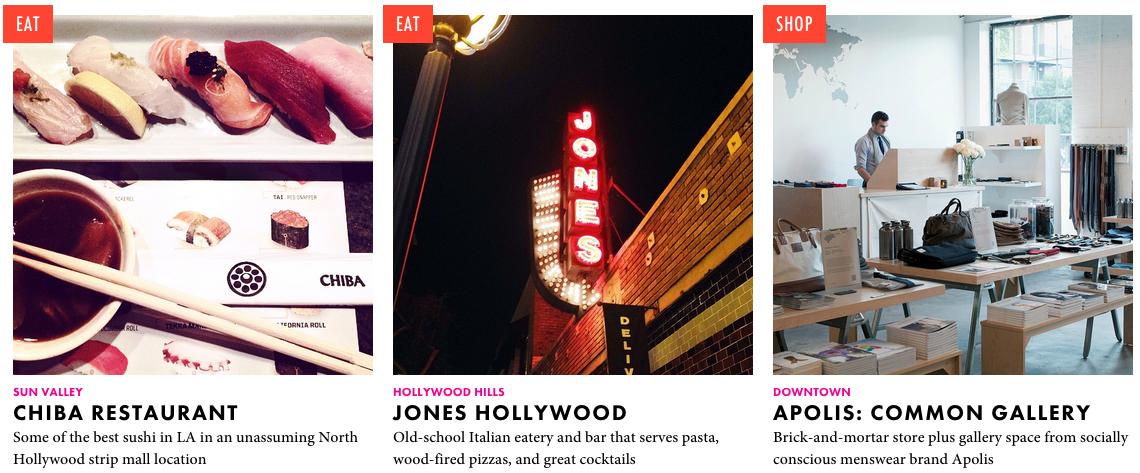 Los Angeles spots