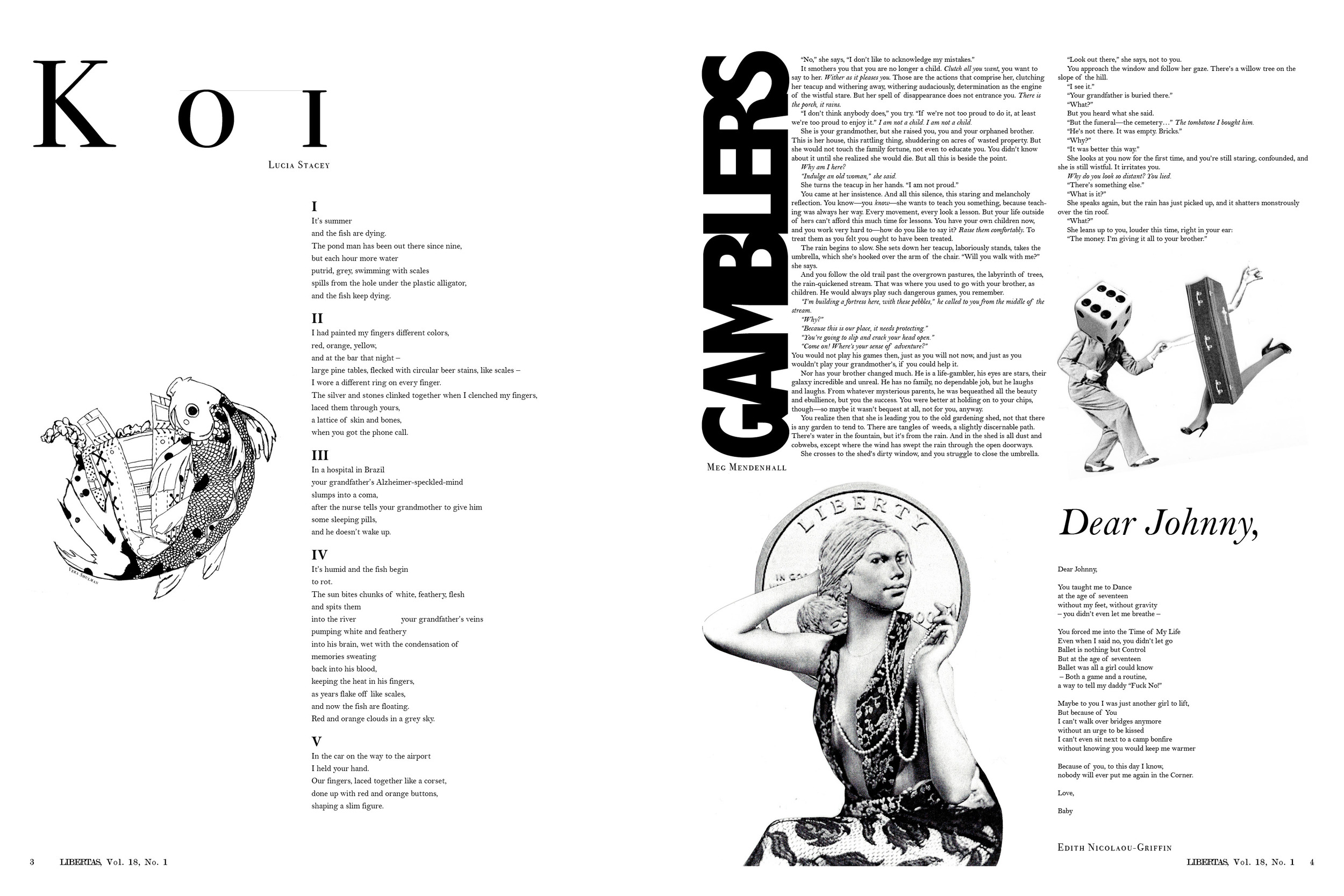Corners Issue (Vol. 18, No. 1), pages 3-4, layout and page 4 collages