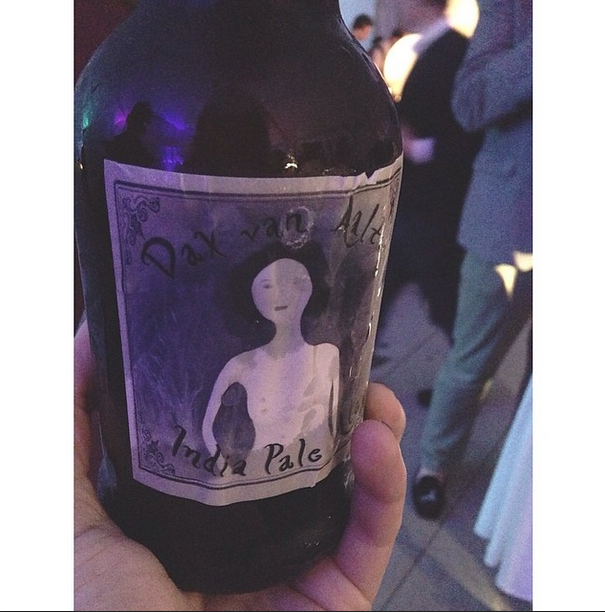 Custom beer label at event