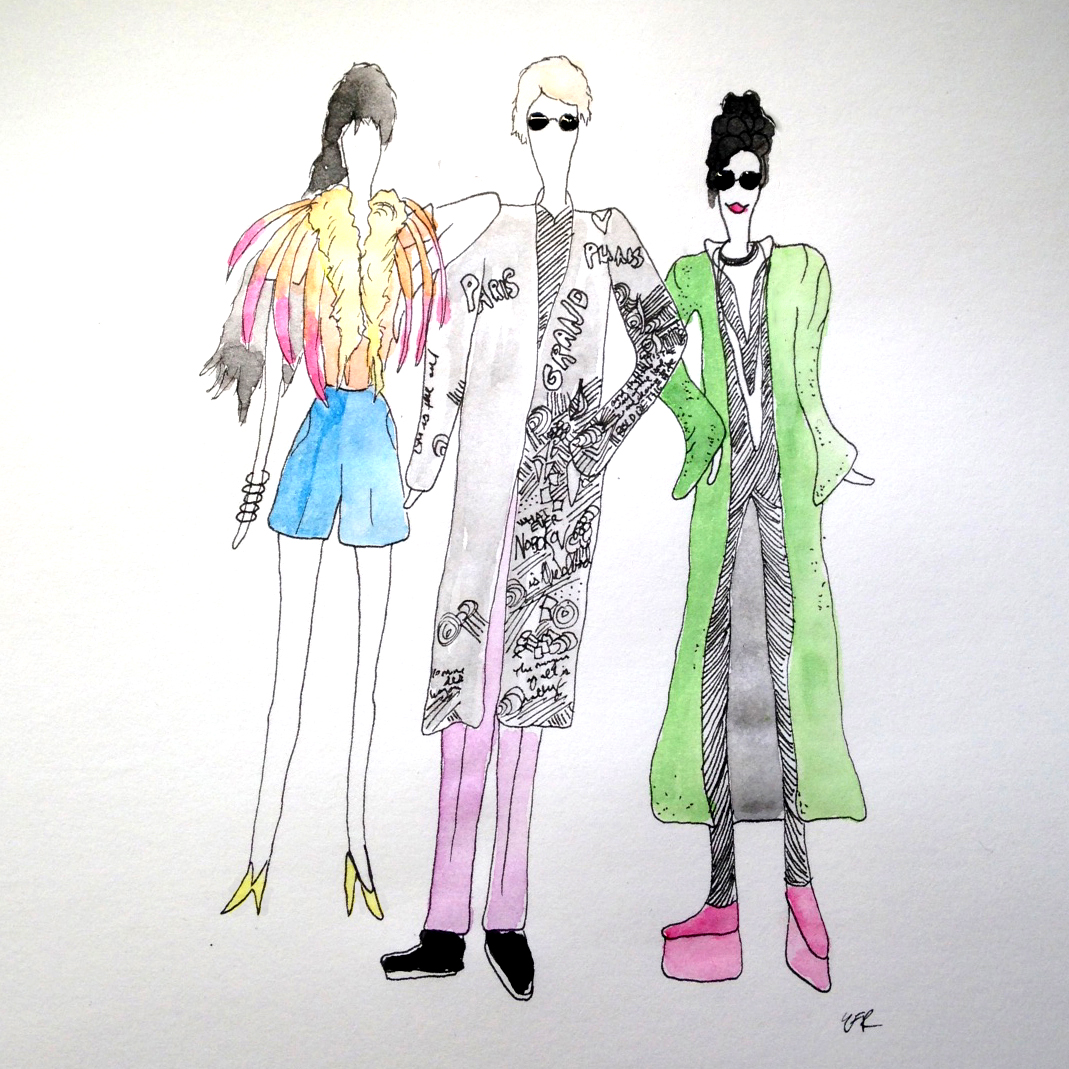 Outfit inspiration illustration used on social media before event
