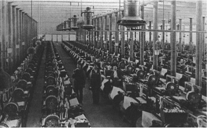 Bell shaped air-conditioners installed at a textile mill by cramer air conditioning company
