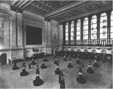 Interior view of the new york stock exchange.