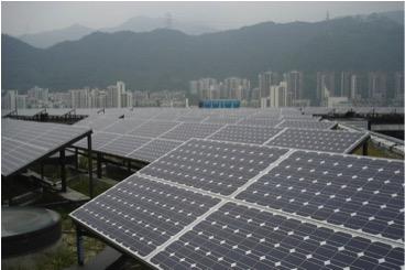 photovoltaics panels on Arooftop