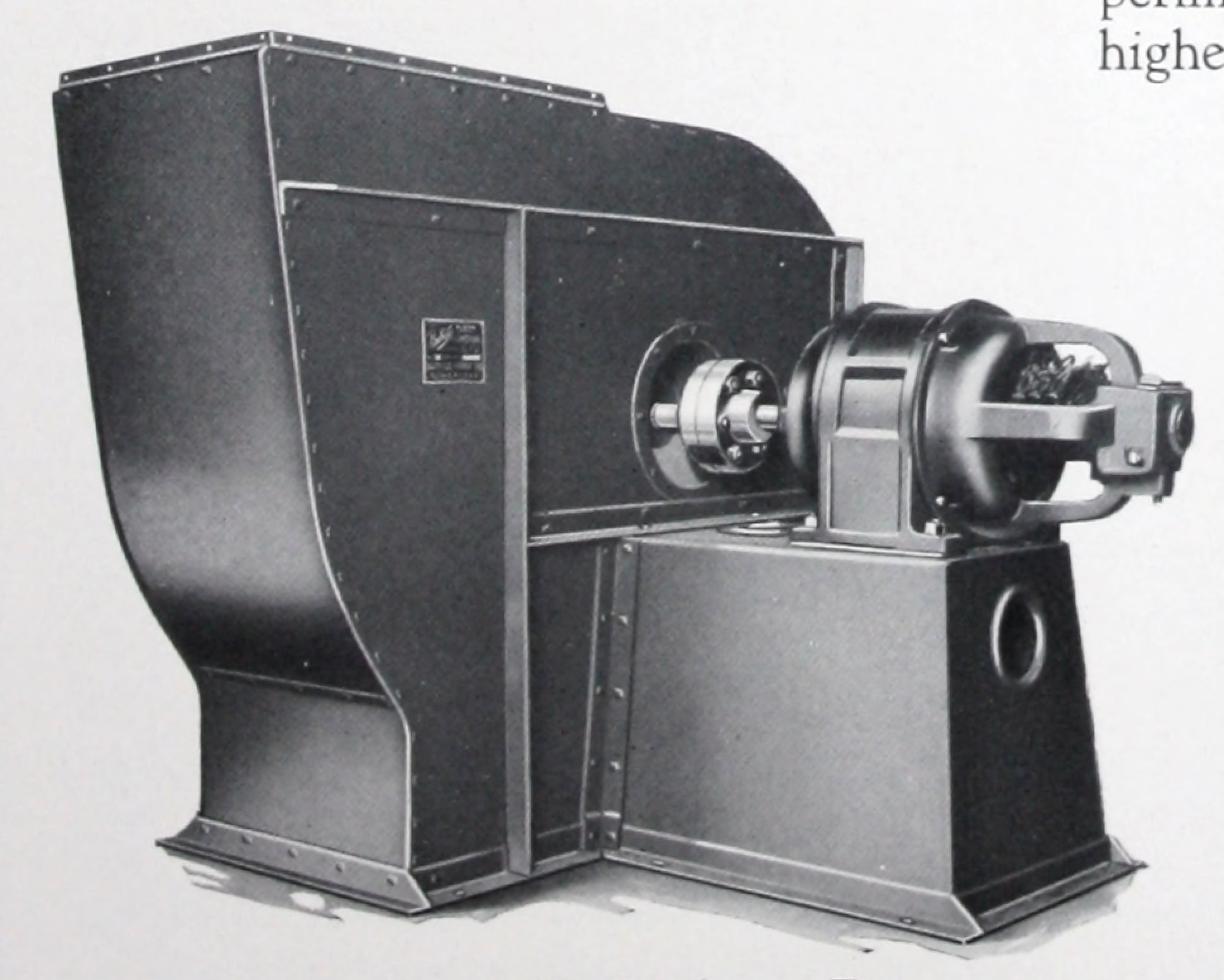 Buffalo conoidal ventilating fans - duplex and turbo.