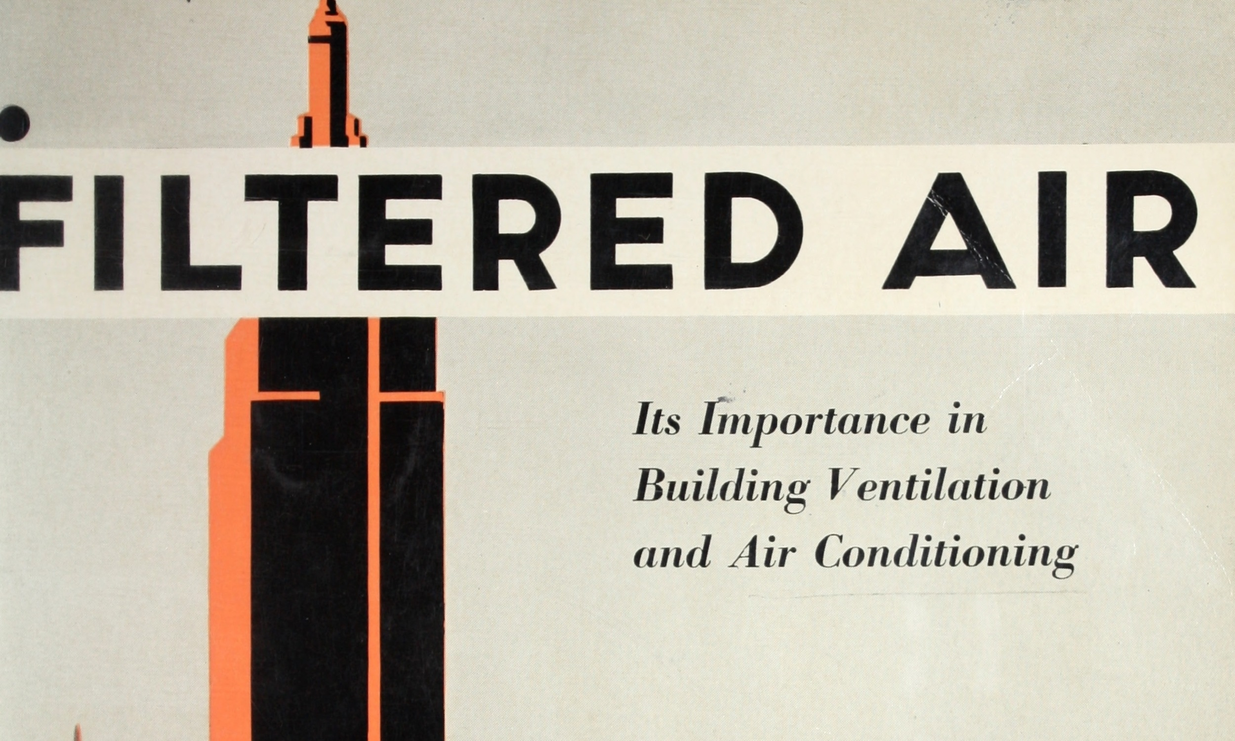 Filtered air, its importance in building ventilation and air conditioning.