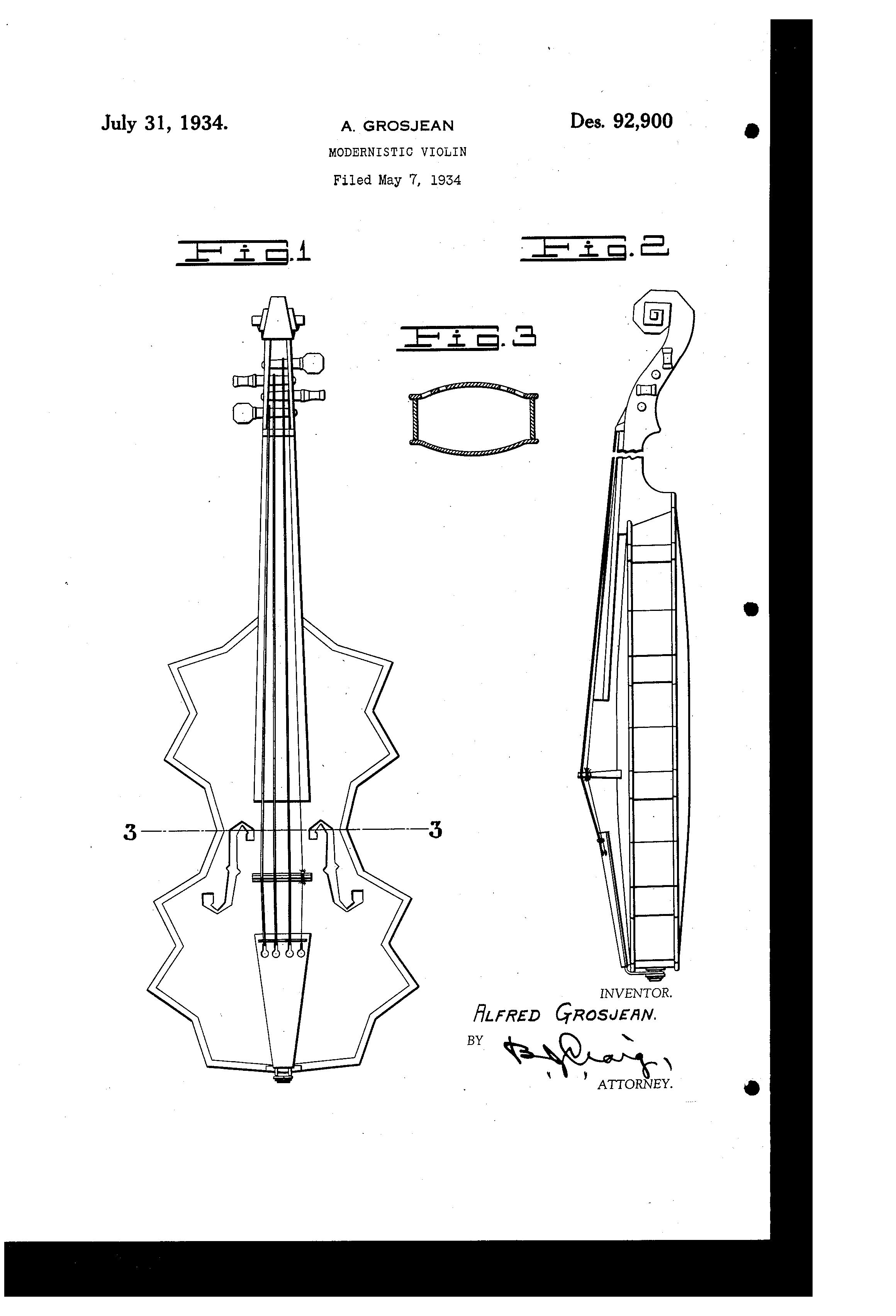 Original 1934 Patent filed by Alfred Grosjean