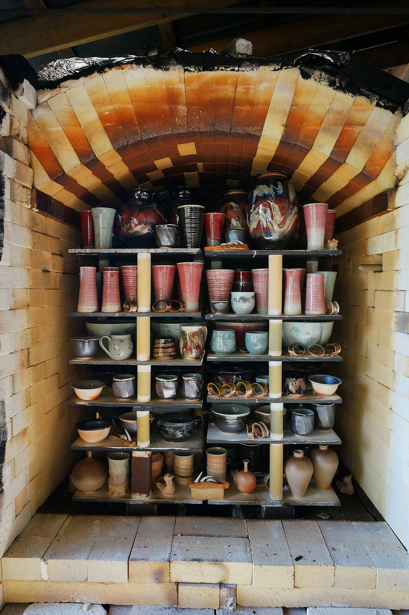 Opening the wood kiln is always a surprise. Each firing is unique with it's own challenges and surprises.