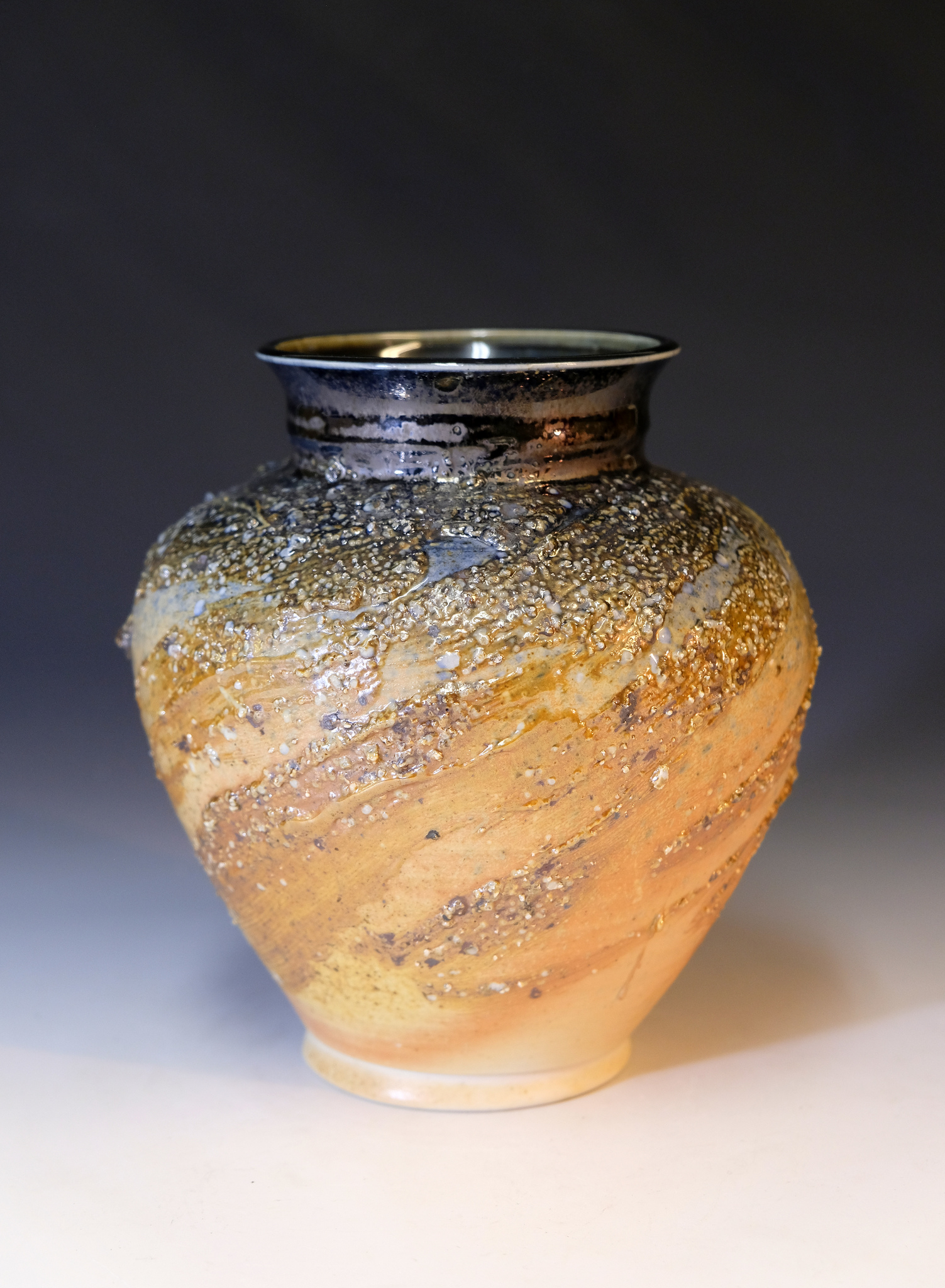 A new vase with local crushed rocks, one of my father Joseph's new designs