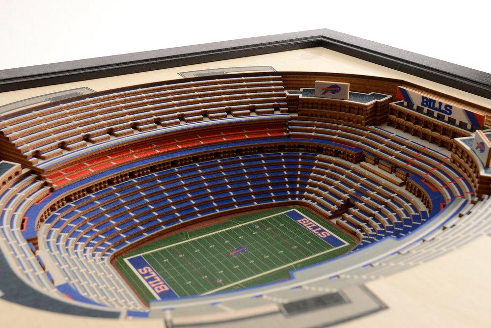 Buffalo Bills New Era Field 3d Wood Stadium Replica 3d Wood Maps Bella Maps