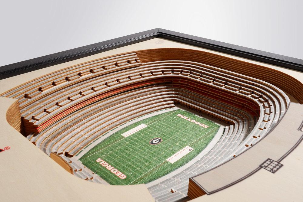competitive price 3420c 0272a Georgia Bulldogs Sanford Stadium 3D Wood Stadium Replica — 3D WOOD MAPS -  BELLA MAPS