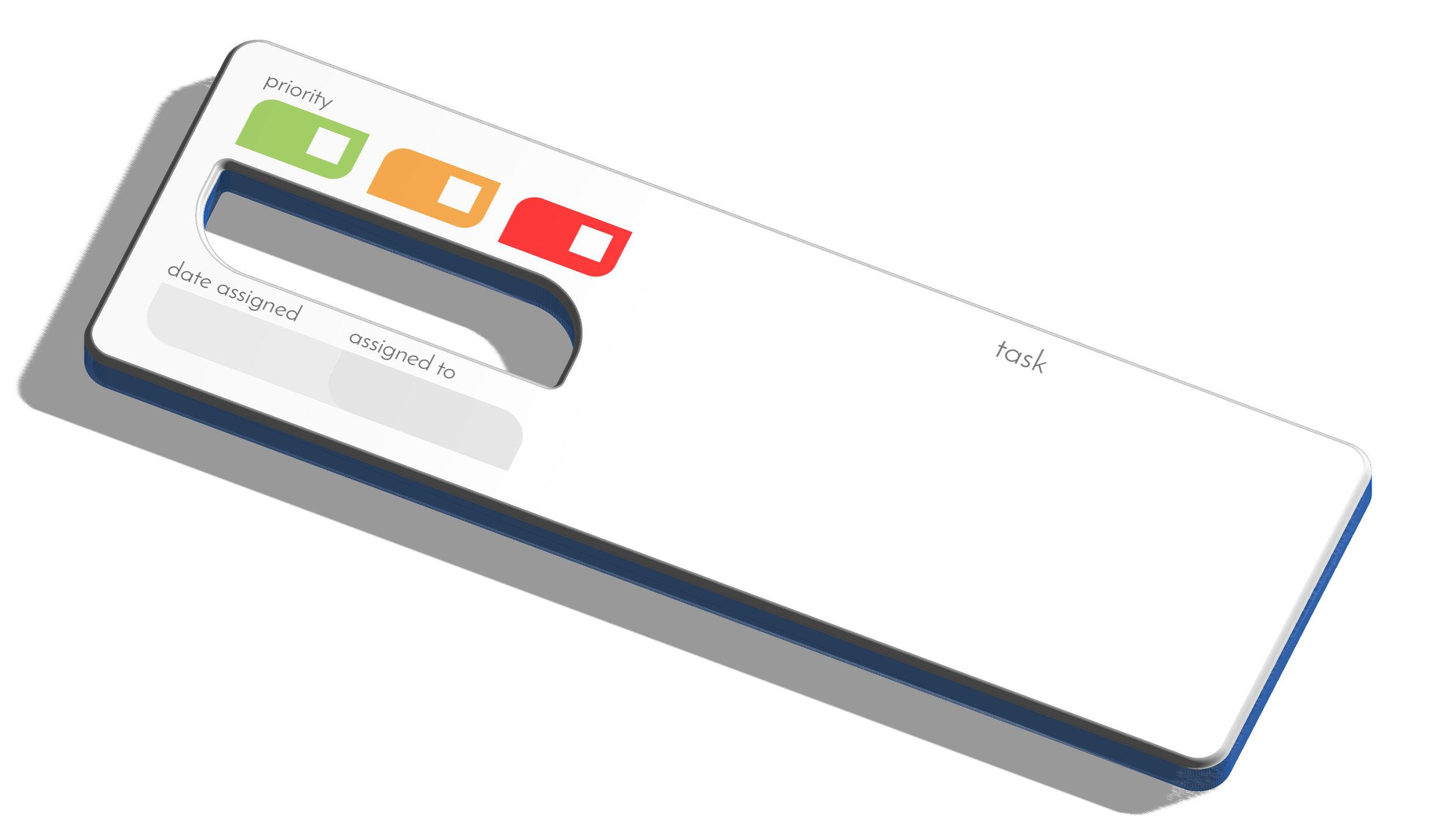 3D render of the Task Baton prototype