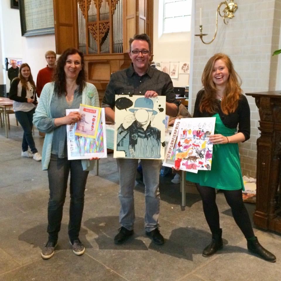 De blije prijswinnaars, met links Marjolein Schalk, mede-oprichter van Wobby en rechts Anne Stalinski, Wobby #4 gast en 1e prijswinnaar.