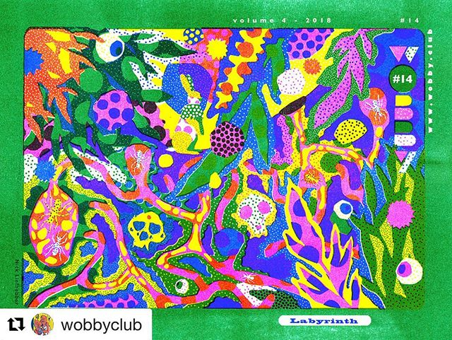 Back from the WTF (Wobby Field Trip) to London and now preparing for our launch next Friday, come and join us in our Labyrinth 💥➡️⛔️🍻 #Repost @wobbyclub ・・・ Our English issue Wobby #14 will be launched June 29 in NS16 Tilburg 🔥 Wobby #14 includes artwork by @nick_liefhebber (cover!), @waynehorse, @laurent.impeduglia, @jasmijnts, @yourialvites, @marjoleinschalk, @myfirsthead, @jeroendeleijer and @zane_zlemesa 💥💥💥 Stories by authors L.H. Wiener, A.H.J. Dautzenberg and Joost Pollmann.  Theme is Labyrinth and that's exactly what you can expect at the launch party: get lost in our handmade maze ⬆️⛔️➡️⚠️⤵️📝🔀🕳🔚☑️ With music (DJ @yourialvites), live drawing (@jasmijnts), performance by A.H.J. Dautzenberg, interview with L.H. Wiener by @jeroendeleijer. And of course lots of nice people and a few beers 🍻 ➡️ Free entrance ➡️ June 29, 20:00 ➡️ NS16, NS Plein 16, Tilburg