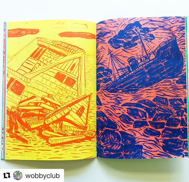 Wobby #14 is available in London, Berlin, SF and LA but we can ship worldwide to your doorstep 🚀🚢🚲🛴💥 Repost @wobbyclub ・・・ @marjoleinschalk for Wobby #14 🏠🔨🚢🌊🦑
