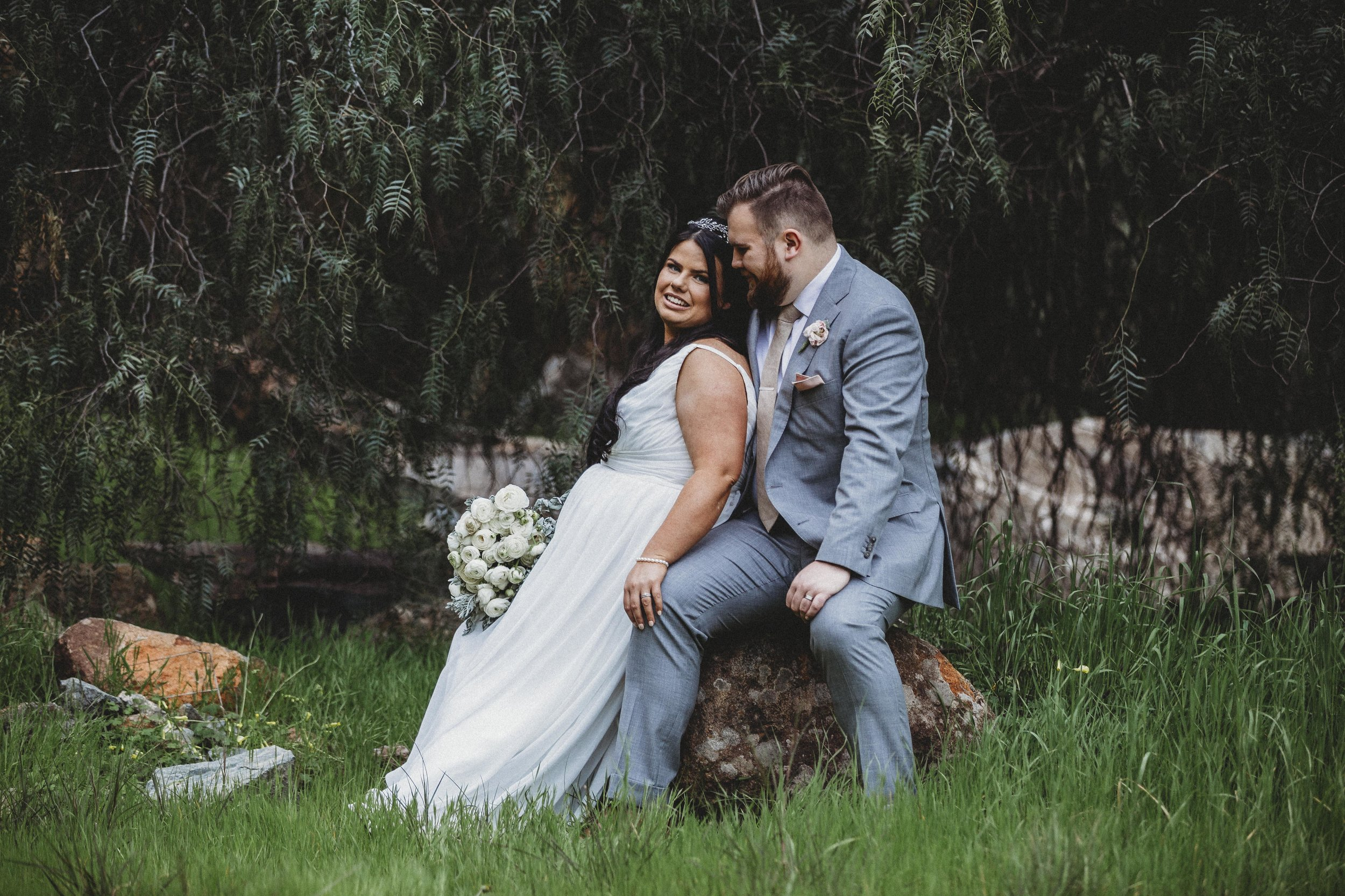 """Mr & Mrs Ahearne - """"We were so happy with our wedding photos that Amina took for us. We had such great fun with her and she made us feel really comfortable throughout the whole process. Amina listened to us and took the time to discuss with us everything we wanted. She not only captured our spirit as a couple, but got photos of all our guests and now we have such beautiful precious memories to hold onto forever. Obviously not having been through something like that, Amina took the time to walk us through what the day might look like and ensured she was able to capture every special moment. Thanks so much Amina!!! Xo"""