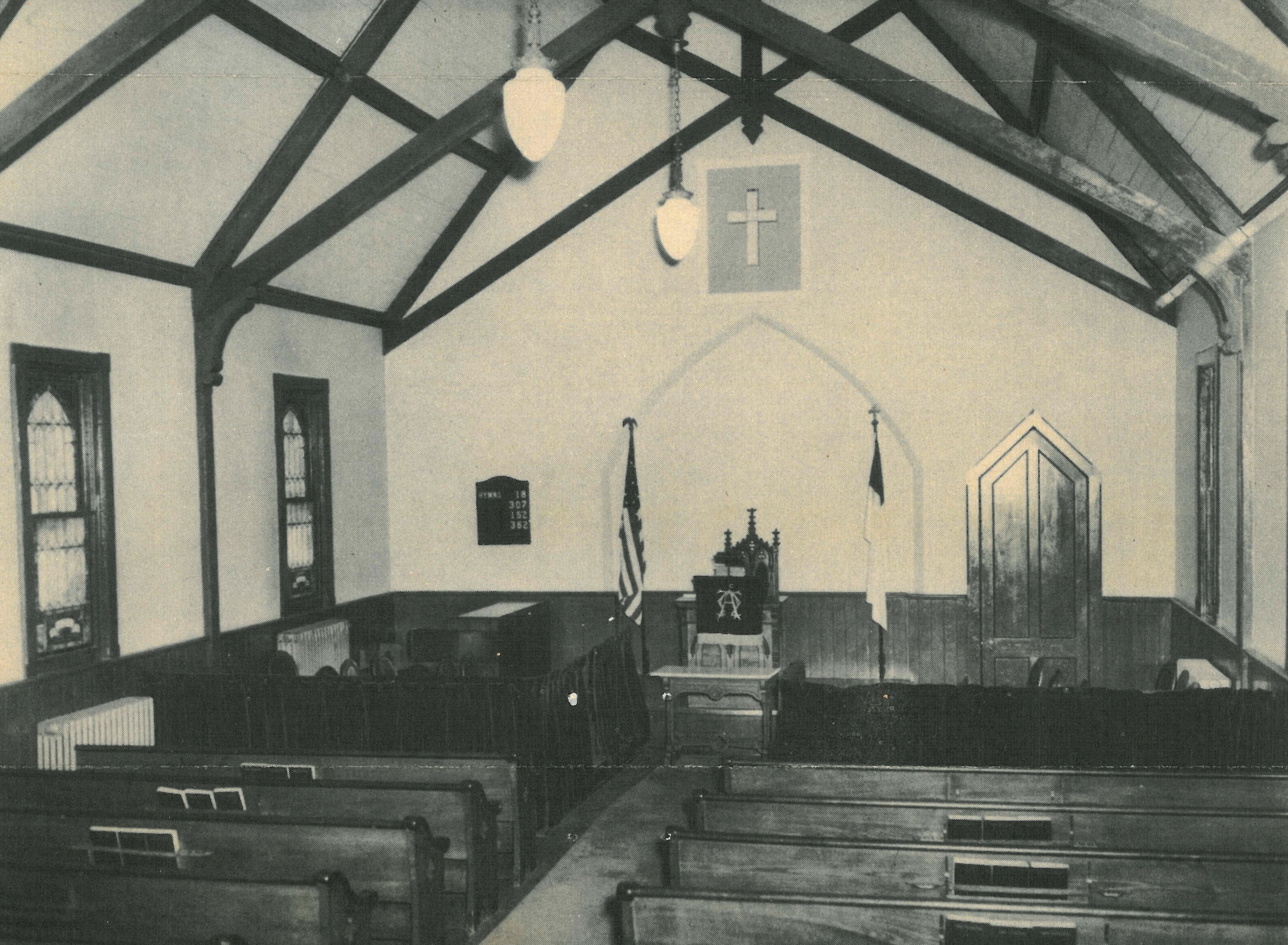 The sanctuary before the 1950s renovation