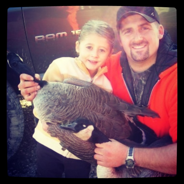 Bailey and Dad Goose hunting