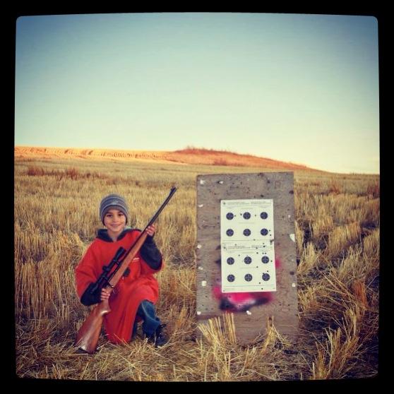 Hayden at the gun range
