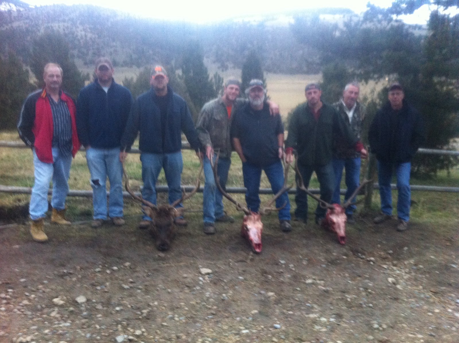 The whole Montana elk hunt group