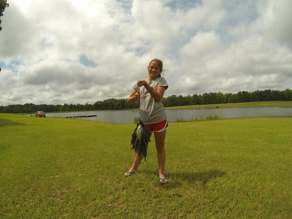 Reagan and her proof of a good day fishing!