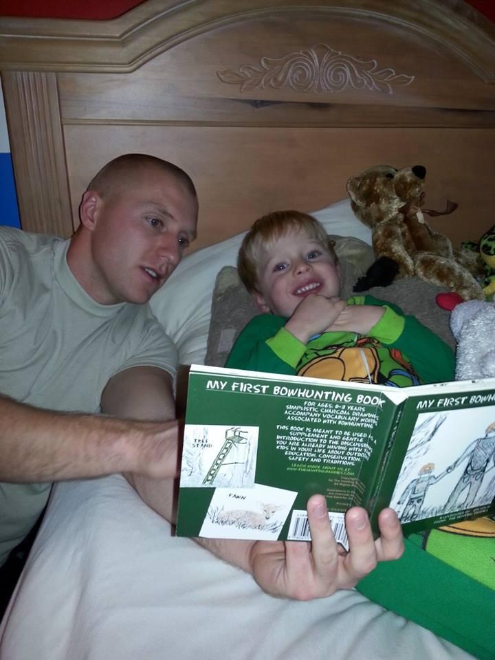 Dad David with son Peyton