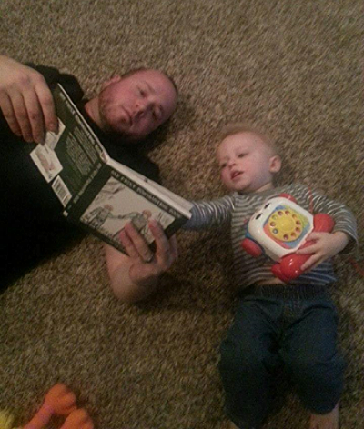 Hunting Daddy Brandon and son Blake; PA