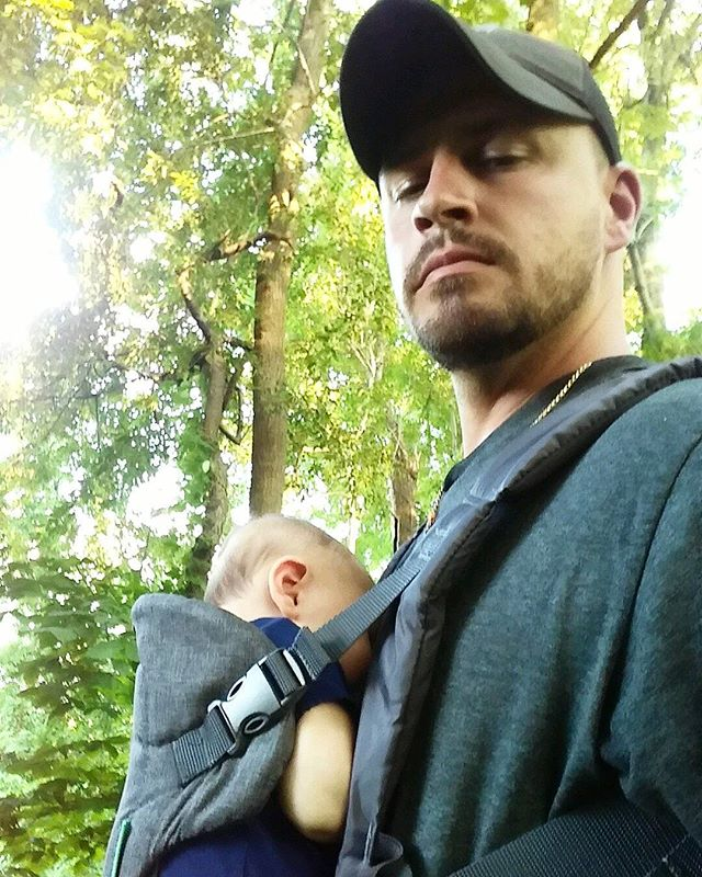 That moment when you realize becoming a dad isn't cutting into your  outdoor time, but instead gave you a hunting buddy for  life.  #thehuntingdaddies #raiseemright #trailcam #deerseasonprep #dadswhowearbabies #outdoorfamily #outdoorbaby