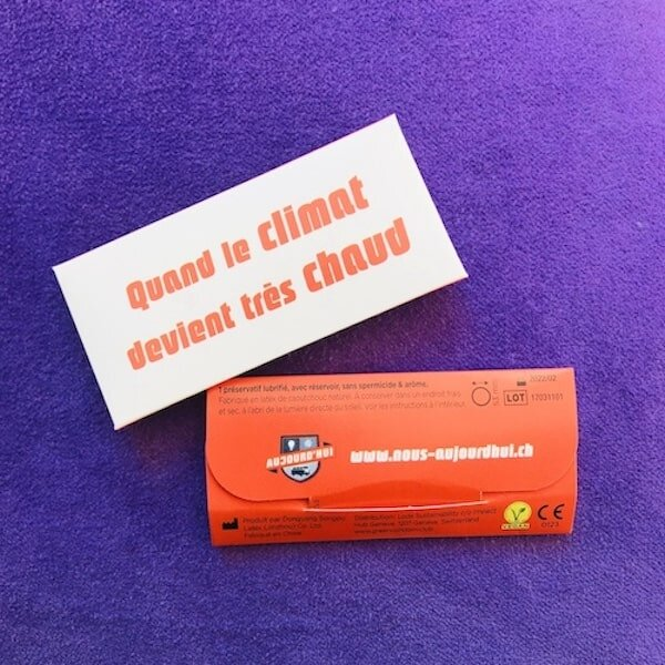 With these customisable pouches, you can promote your message as a sustainable and sex positive organisation