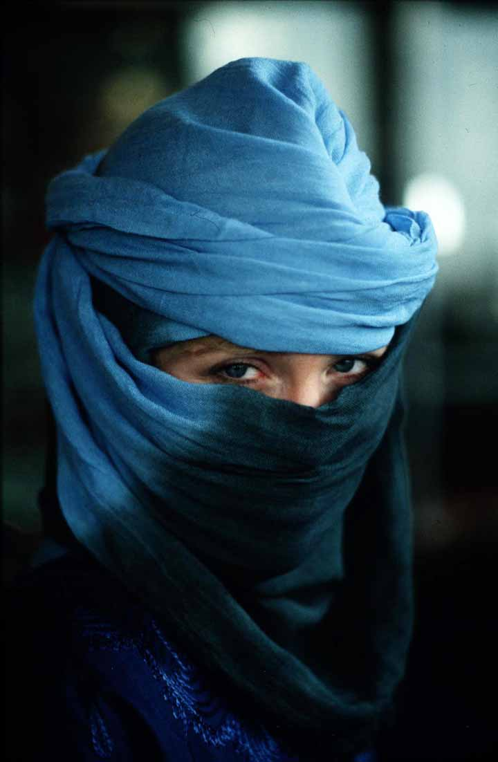 Morocco Woman in Blue