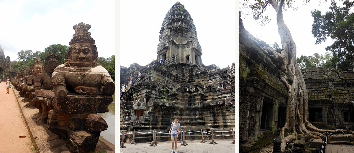 Exploring the Angkor temples