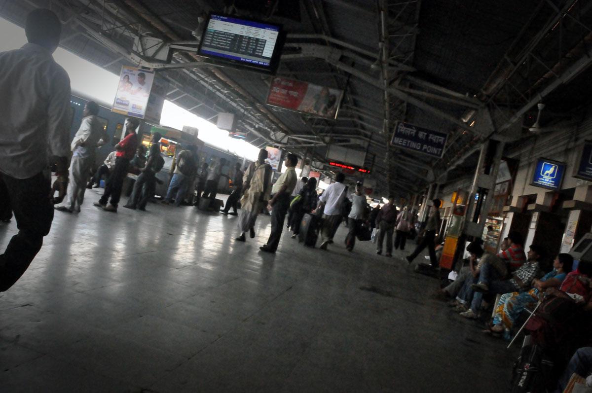 Agra Train Station inside