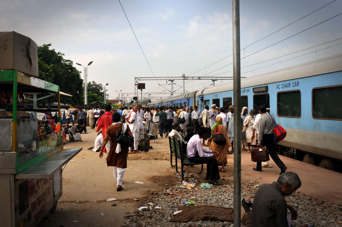 Agra Train Station outside