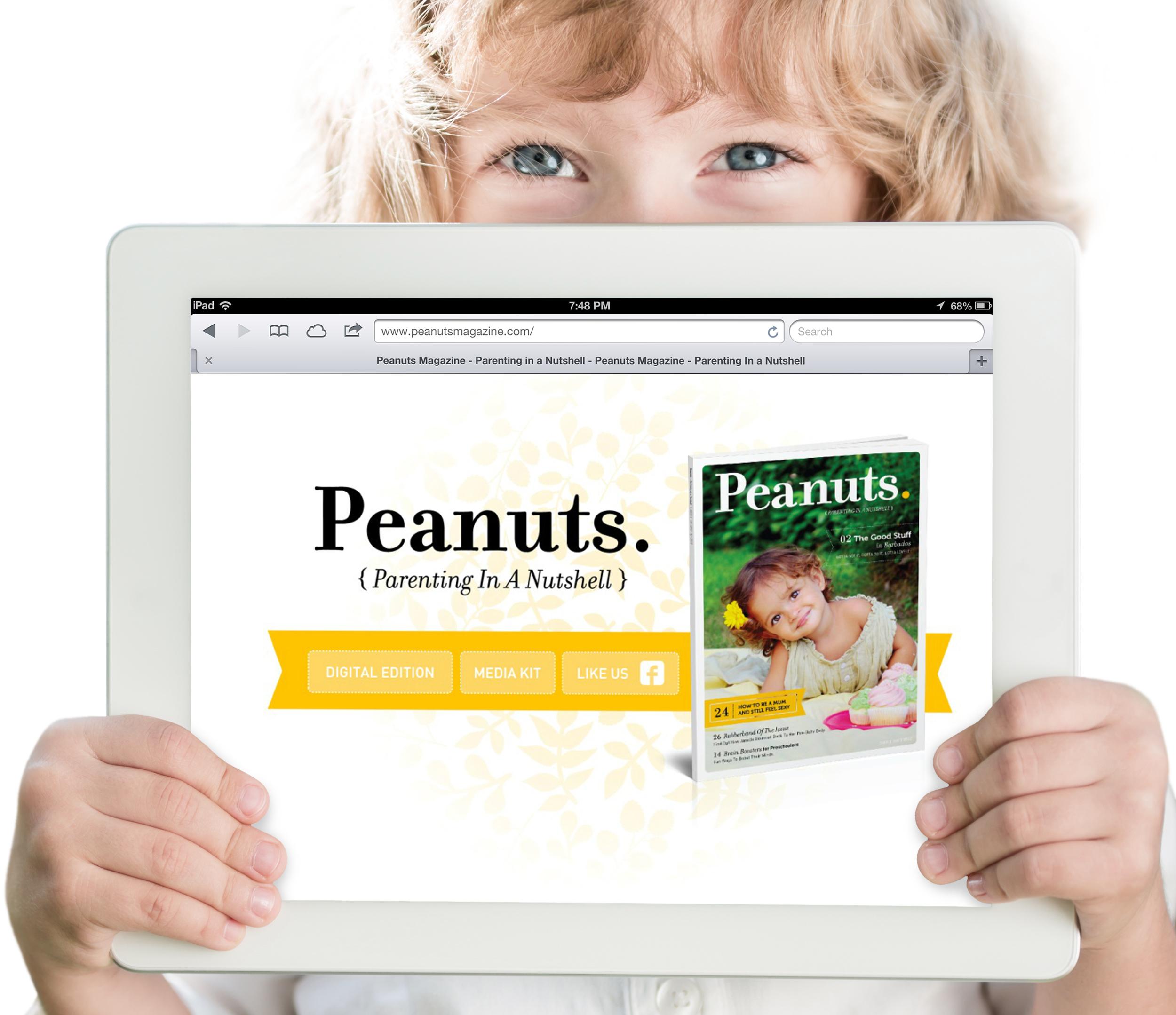 Peanuts Magazine, Splash Page   Digital