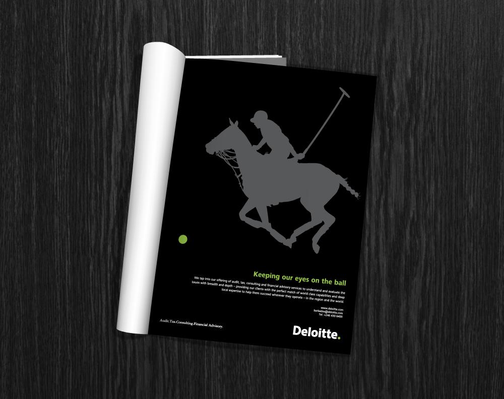 Deloitte. Magazine Print Ad   Brand Management