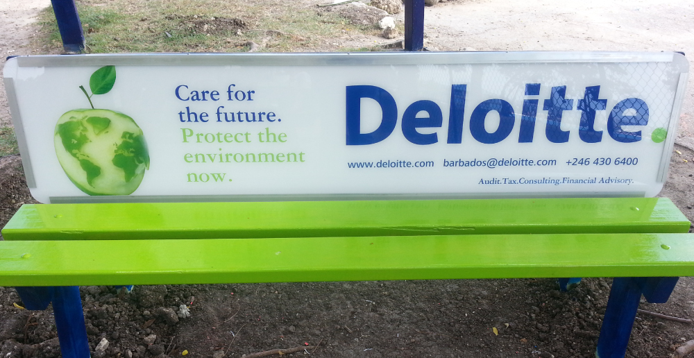 Deloitte. 'Impact Day' Bench Signage   OOH