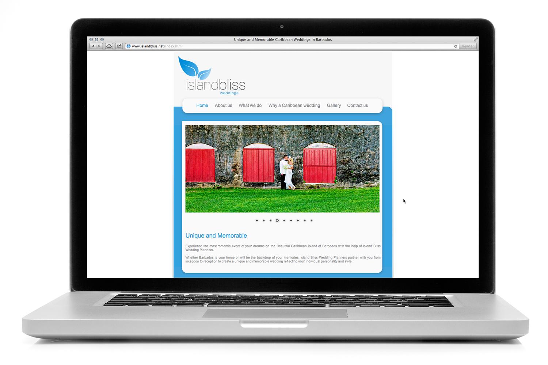 Island Bliss Weddings Website   Digital