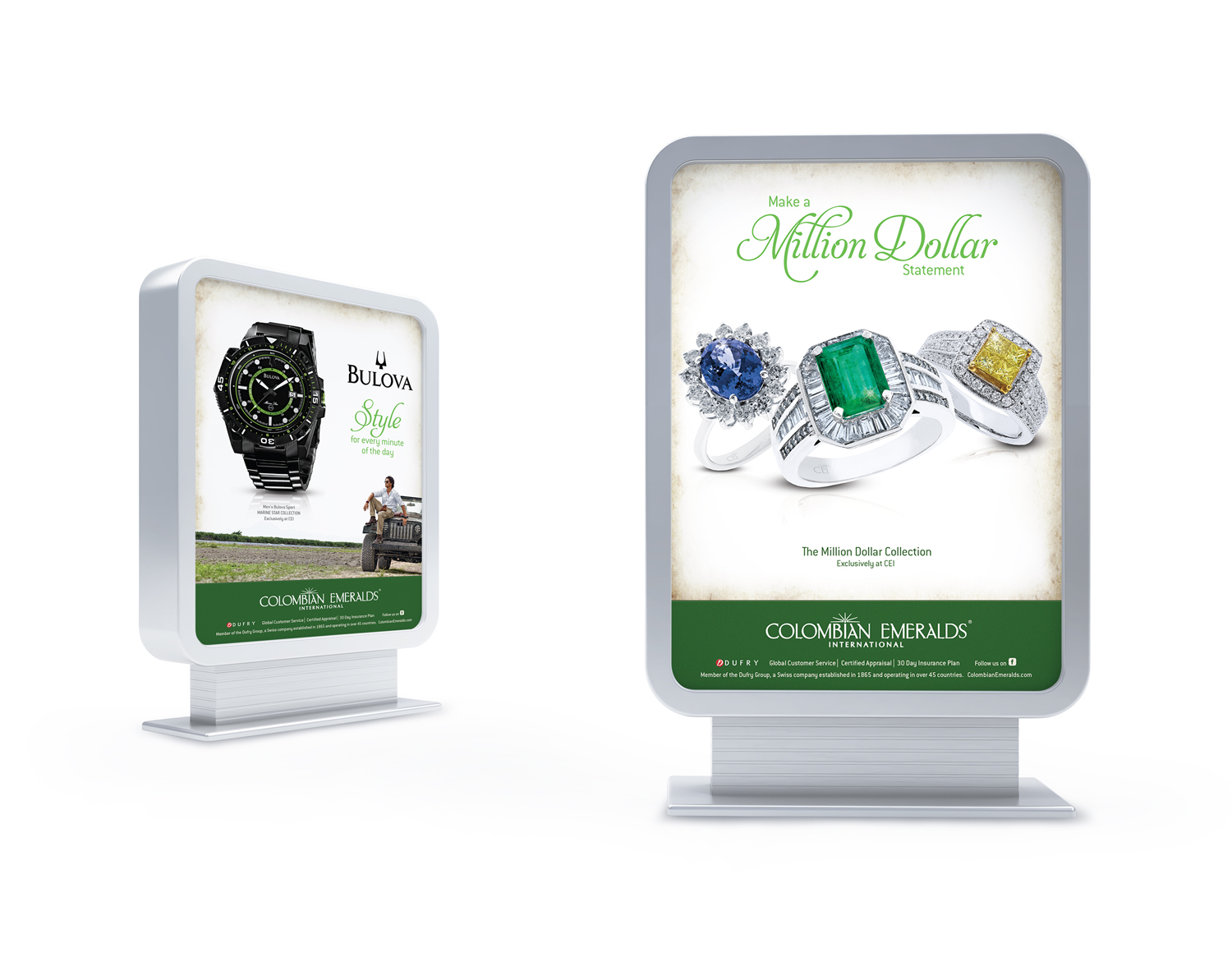 Colombian Emeralds International Duratrans   OOH Advertising
